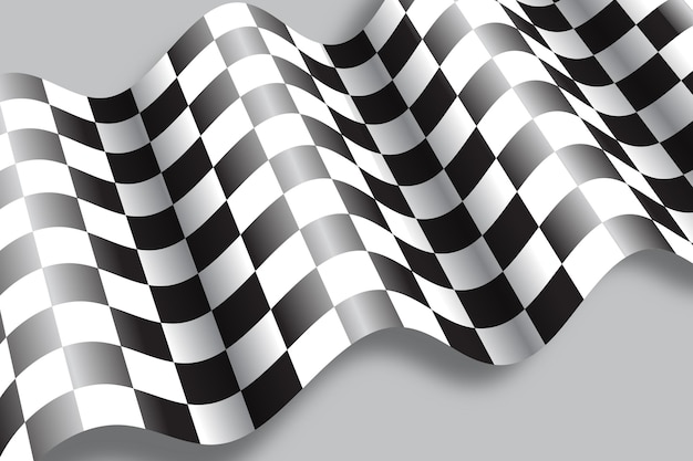 Realistic racing flag background