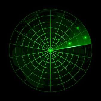 Realistic radar in searching