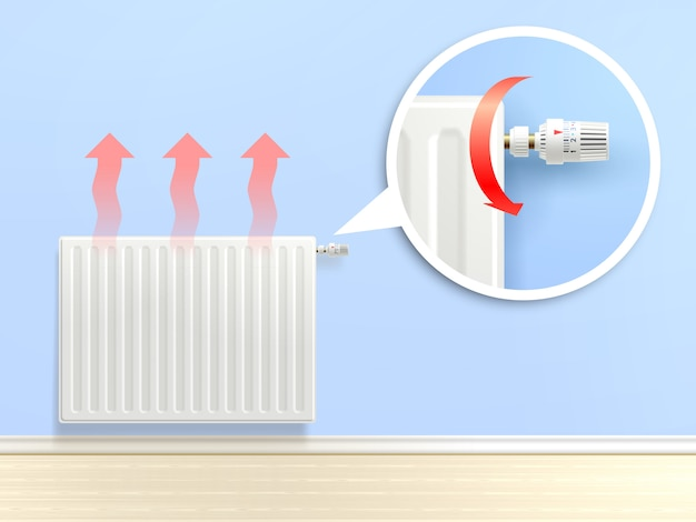 Realistic radiator illustration