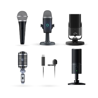 Realistic radio and music microphone  set