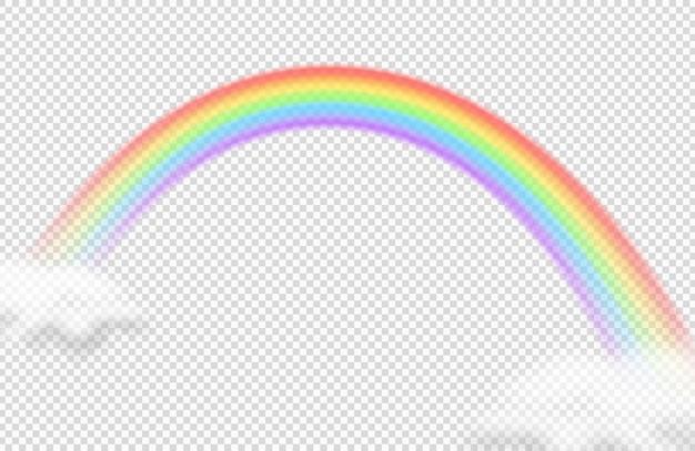 現実的な虹のベクターアイコン。