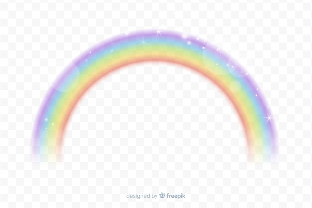 Realistic rainbow with transparent background