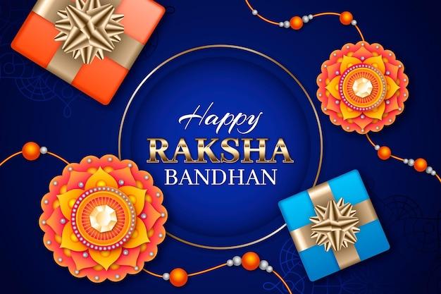 Realistic raksha bandhan background