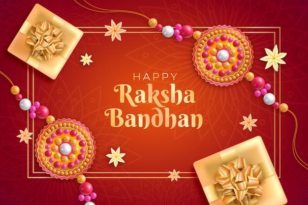 Realistic raksha bandhan concept