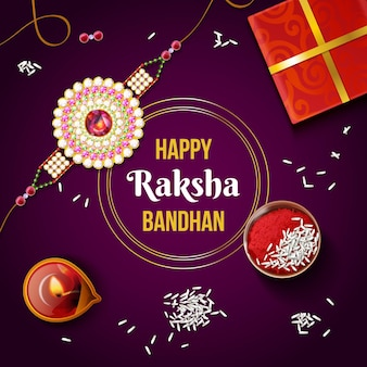 Realistic raksha bandhan concept