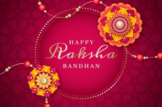 Realistic raksha bandhan illustration