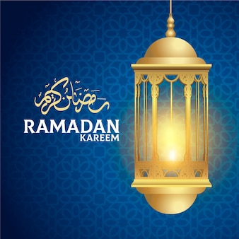 Realistic ramadan background concept