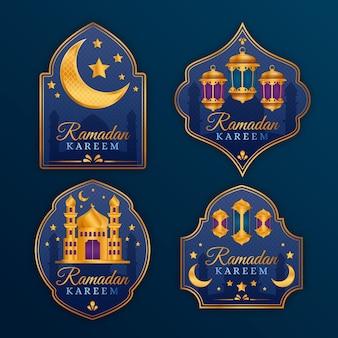 Реалистичная коллекция значков рамадана