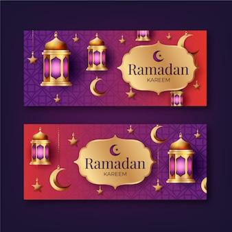 Реалистичные баннеры рамадана
