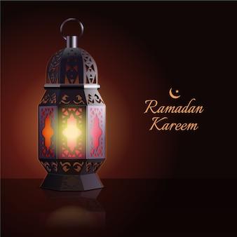 Realistic ramadan concept