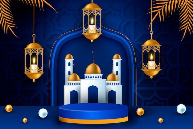 Реалистичный фон рамадан карим
