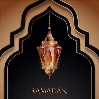Elemento realistico di ramadan kareem