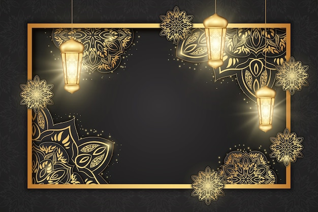 Illustrazione realistica del ramadan kareem