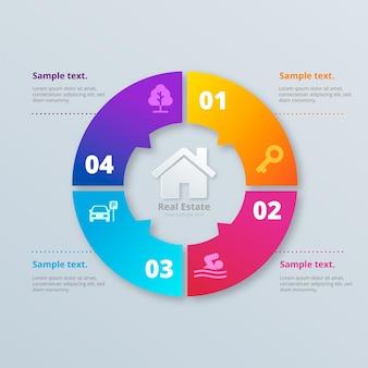 Реалистичный шаблон инфографики недвижимости