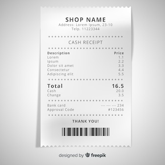 Receipt Vectors, Photos and PSD files | Free Download