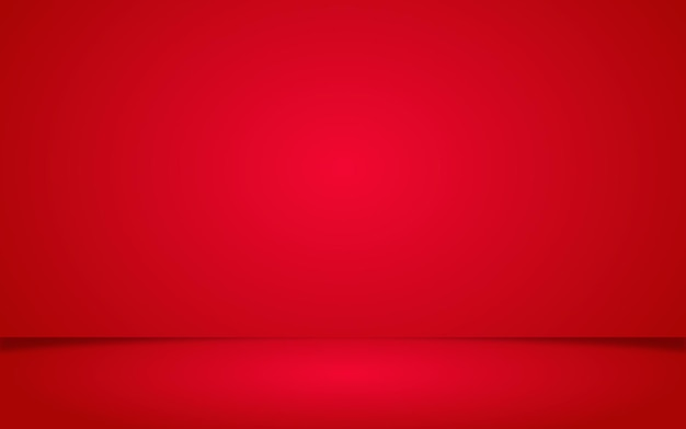 Realistic red backdrop valentine scene for product display or placement