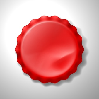 Realistic red bottle cap