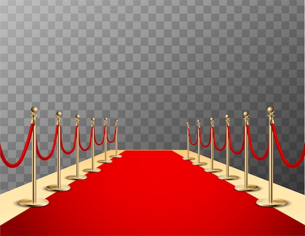 Realistic red carpet
