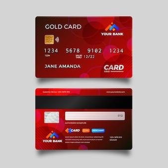 Реалистичная красная кредитная карта