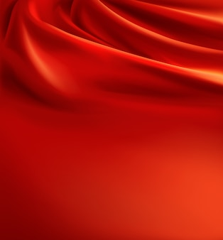 Realistic red fabric background