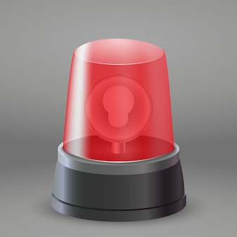 Realistic red flasher light siren