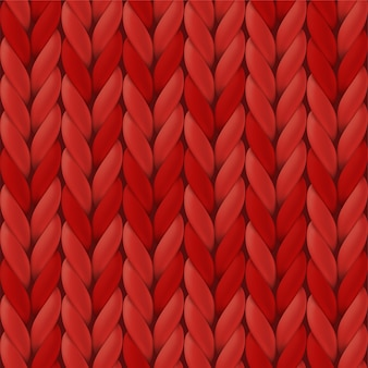 Realistic red knit texture.