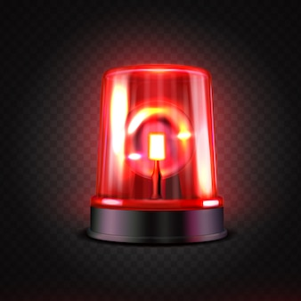 Реалистичная красная светодиодная мигалка.