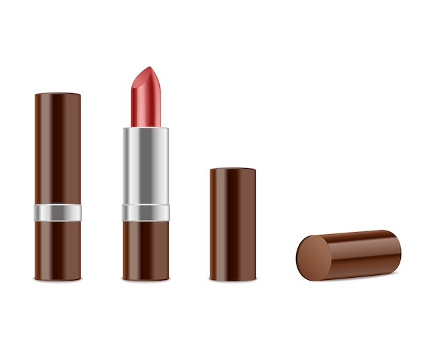 Realistic red lipsticks