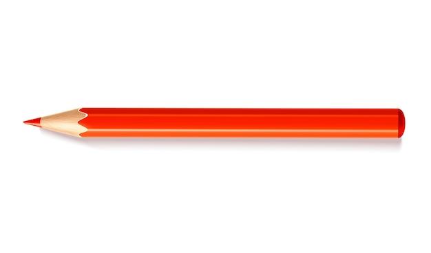 Реалистичный красный карандаш