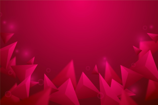 Realistic red polygonal background