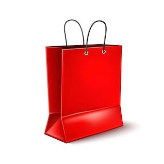 Реалистичная красная сумка для покупок для дизайна плаката черной пятницы
