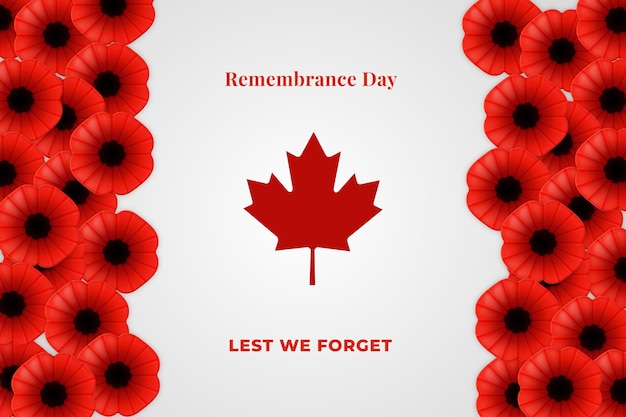 Realistic remembrance day background