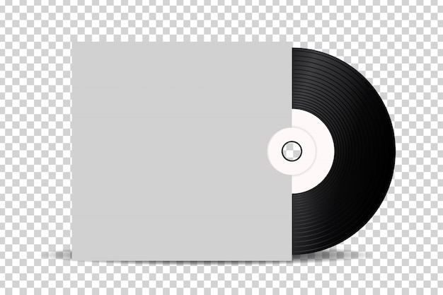 Realistic  retro vinyl record for decoration and covering on the transparent background.