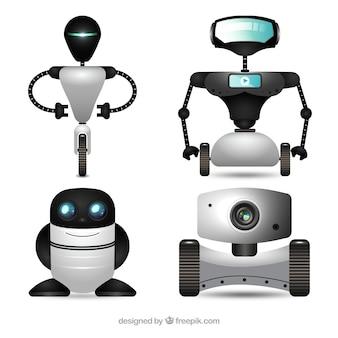 Реалистичная коллекция персонажей роботов