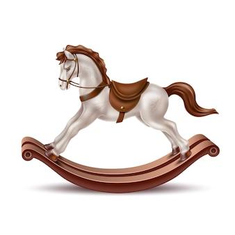 Реалистичная лошадка-качалка
