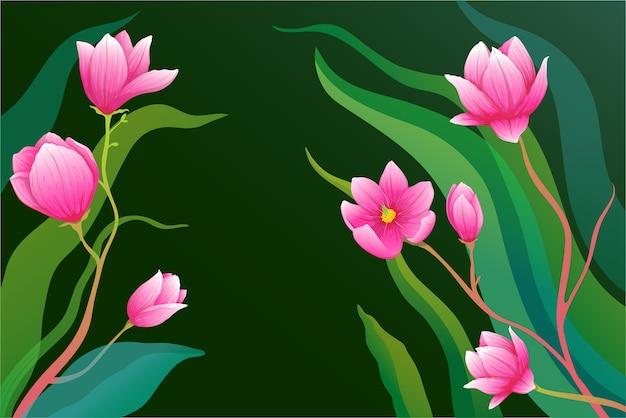 Реалистичная композиция из роз или цветов магнолии