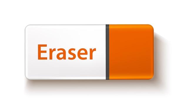 Realistic rubber eraser
