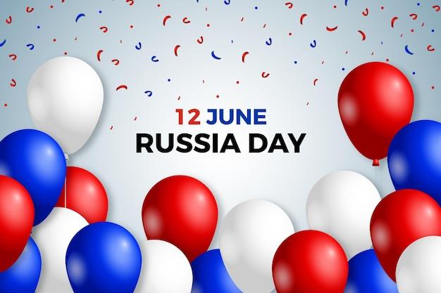 Priorità bassa di giorno realistico della russia con palloncini
