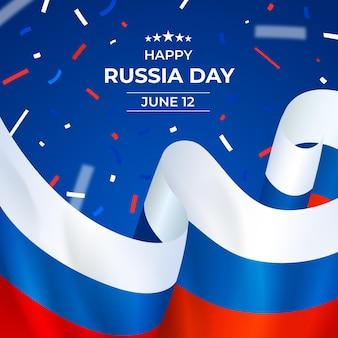 現実的なロシアの日のイラスト