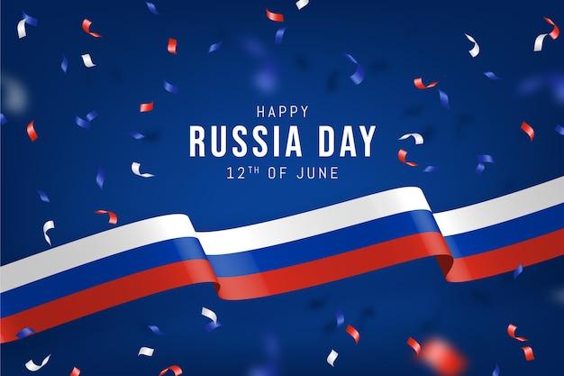 Realistic russia day illustration
