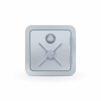 Realistic safe box icon