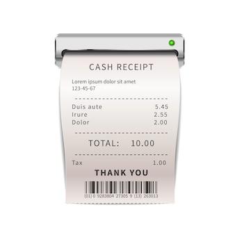 Realistic sales receipt
