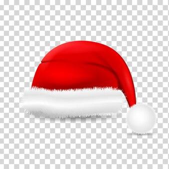 Realistic santa claus hat.  santa claus holiday cap