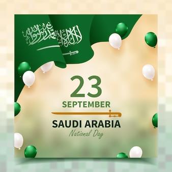 Реалистичная публикация в социальных сетях о национальном дне саудовской аравии