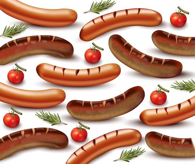 Realistic sausage pattern