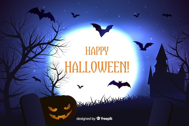 Realistic scary halloween background