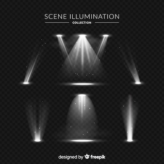 Realistic scene illumination collection