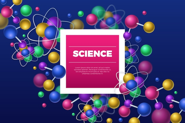 Realistic science background theme