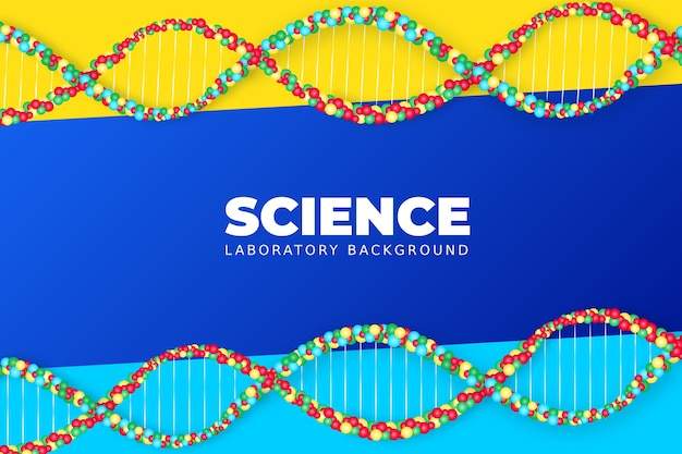 Realistic science background with dna