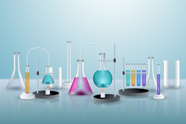 Realistic science background